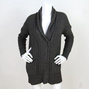 Vince Charcoal Gray Yak/Wool Zip Cardigan Sweater